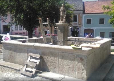 Rekonstrukce kamenné kašny - Vyšší Brod