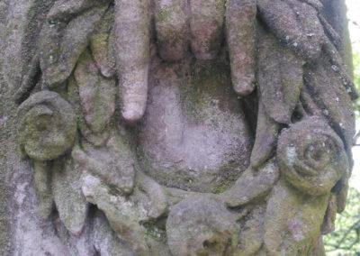 Detail sochy k restaurování