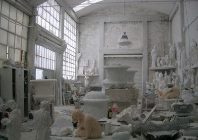 Pohled do ateliéru (stáž v Toskánsku)