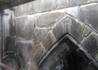 Oprava havárie gotické věže